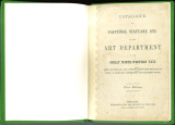 """Catalogue of paintings statuary, etc. of the Art Department in the Great North-Western Fair..."