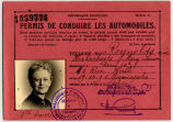 Reynolds, Mary, French driver's license