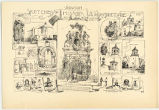 """Sketches of Spanish Mission Architecture at San Antonio"""